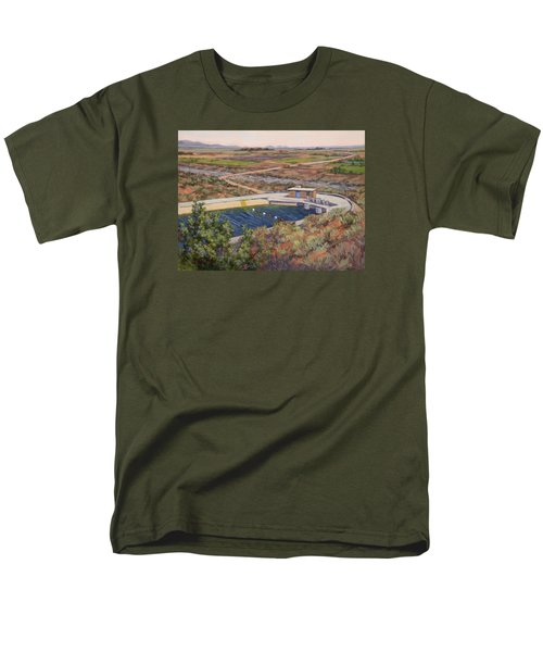 Where The Aqueduct Goes Underground Men's T-Shirt  (Regular Fit) by Jane Thorpe