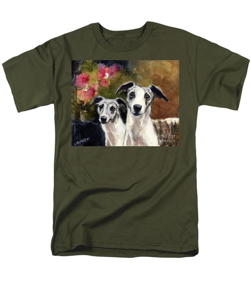Whippets Men's T-Shirt  (Regular Fit) by Molly Poole