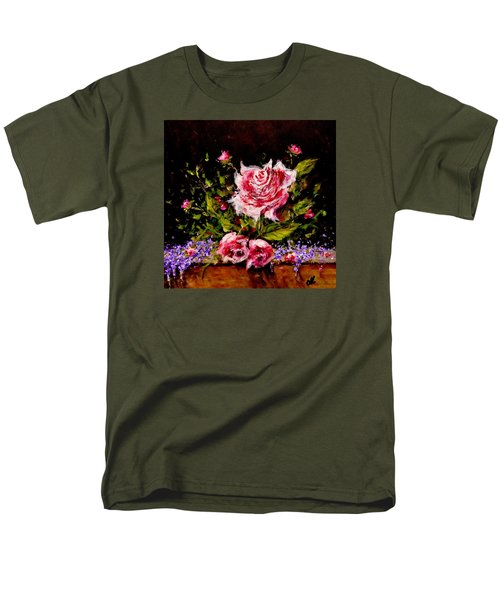 Men's T-Shirt  (Regular Fit) featuring the painting Whispers Of Love.. by Cristina Mihailescu