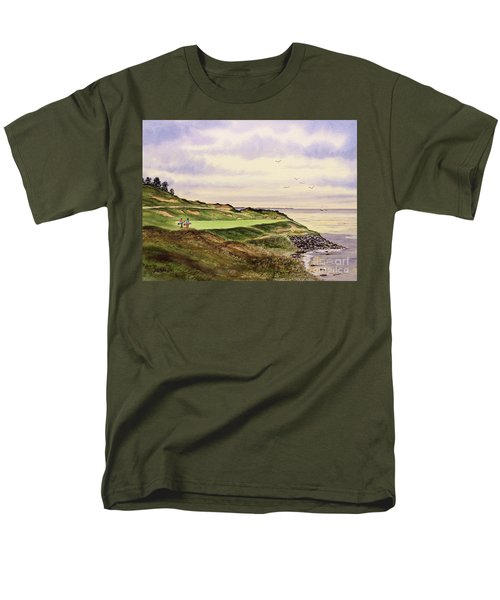 Whistling Straits Golf Course Hole 7 Men's T-Shirt  (Regular Fit) by Bill Holkham