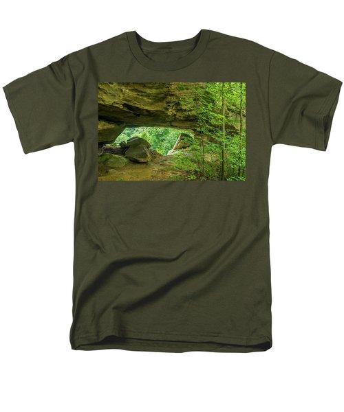 White Branch Arch Men's T-Shirt  (Regular Fit) by Ulrich Burkhalter