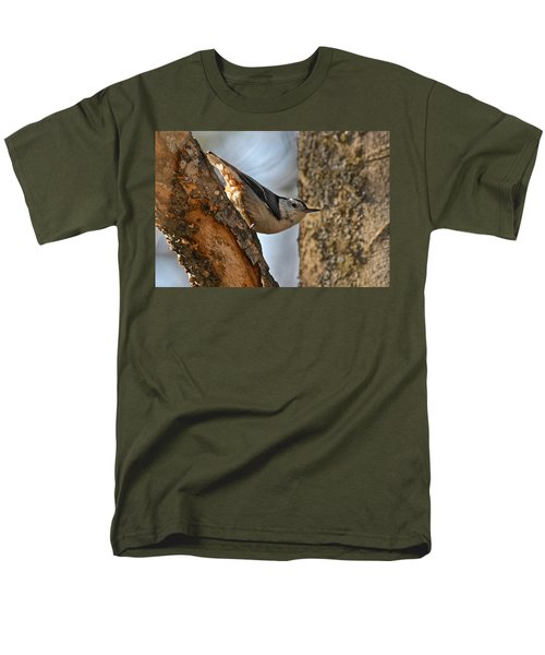 White Breasted Nuthatch 370 Men's T-Shirt  (Regular Fit) by Michael Peychich