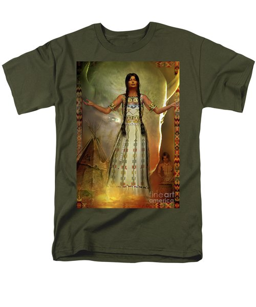 White Buffalo Calf Woman Men's T-Shirt  (Regular Fit) by Shadowlea Is