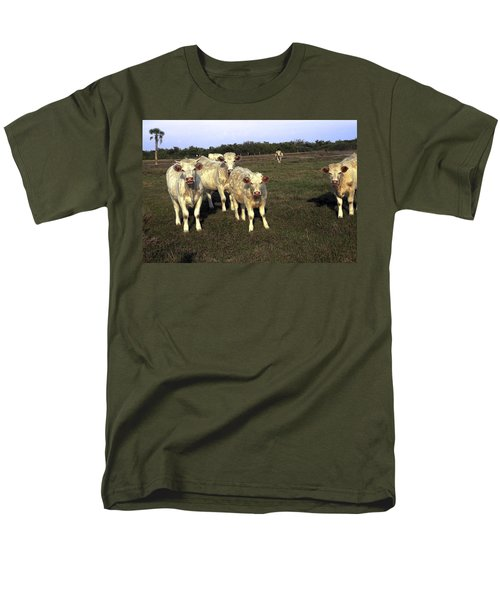 White Cows Men's T-Shirt  (Regular Fit) by Sally Weigand