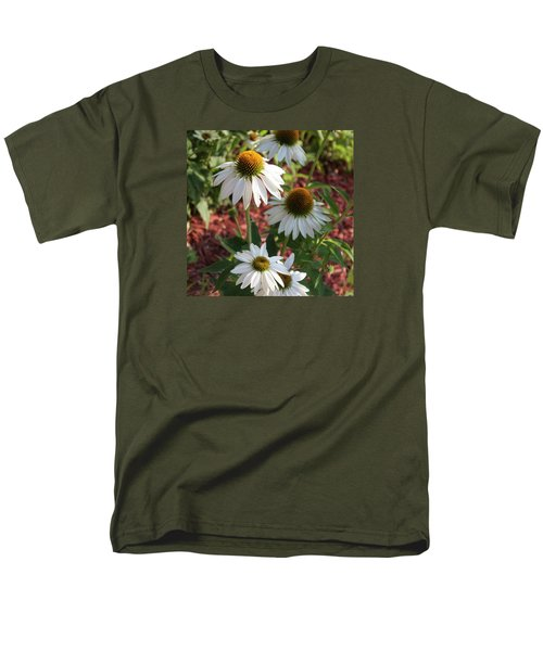 Men's T-Shirt  (Regular Fit) featuring the photograph White Echinacea by Suzanne Gaff