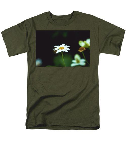 White Flower Men's T-Shirt  (Regular Fit) by Hyuntae Kim