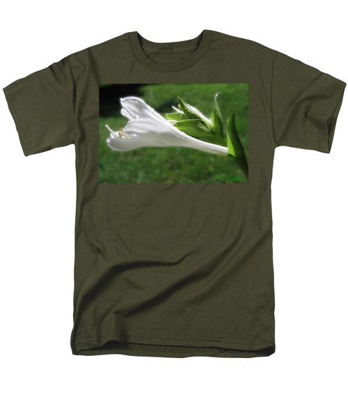 Men's T-Shirt  (Regular Fit) featuring the photograph White Hosta Flower 46 by Maciek Froncisz