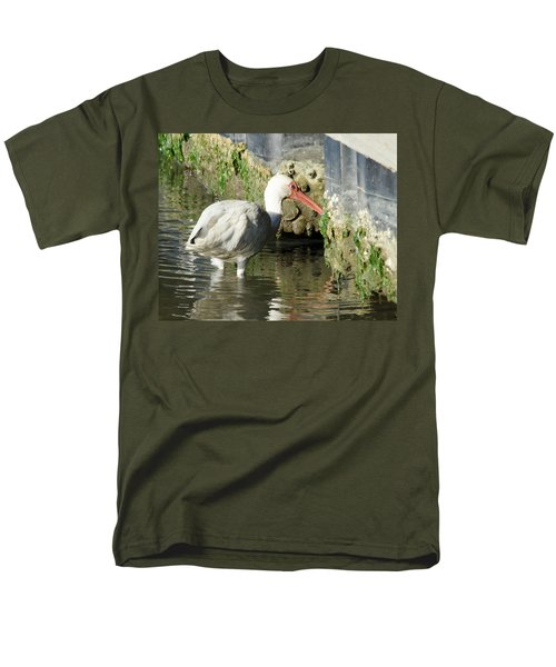 Men's T-Shirt  (Regular Fit) featuring the photograph White Ibis Headed Home by George Randy Bass