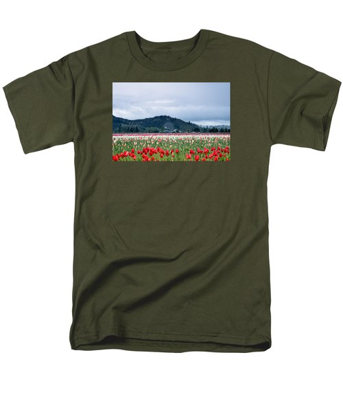 White Pass Highway With Tulips Men's T-Shirt  (Regular Fit) by E Faithe Lester