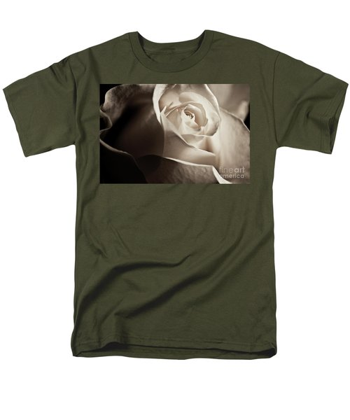 White Rose In Sepia 2 Men's T-Shirt  (Regular Fit) by Micah May