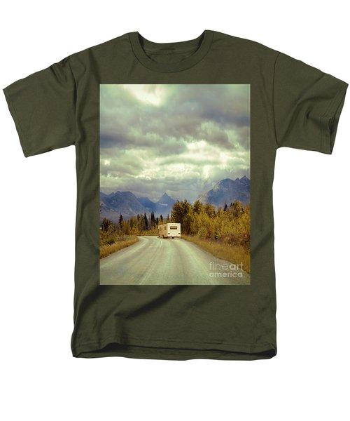 Men's T-Shirt  (Regular Fit) featuring the photograph White Rv In Montana by Jill Battaglia