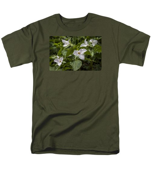 Men's T-Shirt  (Regular Fit) featuring the photograph White Trillium by Tyson and Kathy Smith