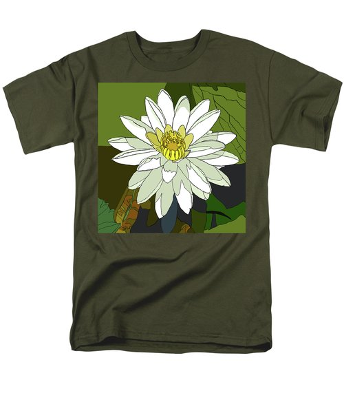 White Water Lily Men's T-Shirt  (Regular Fit) by Jamie Downs
