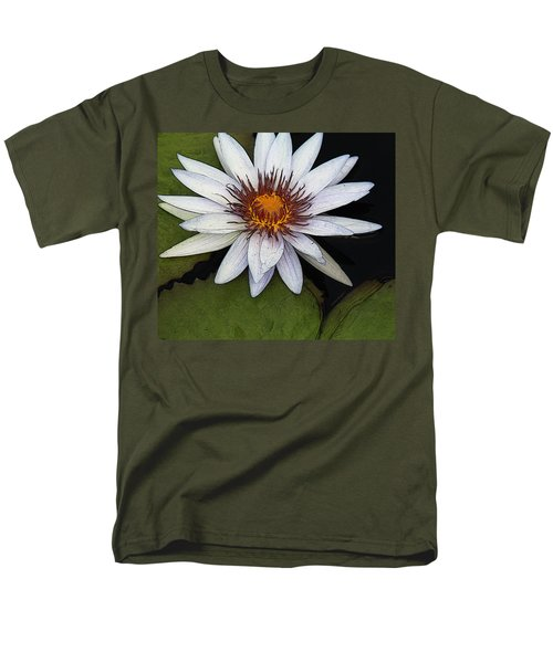 White Water Lily Men's T-Shirt  (Regular Fit) by Yvonne Wright