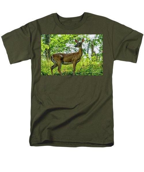 Men's T-Shirt  (Regular Fit) featuring the photograph Whitetail Deer  by Thomas R Fletcher
