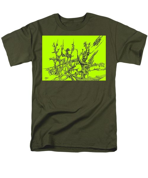 Whooshh -  Lime Background Men's T-Shirt  (Regular Fit) by Charles Cater