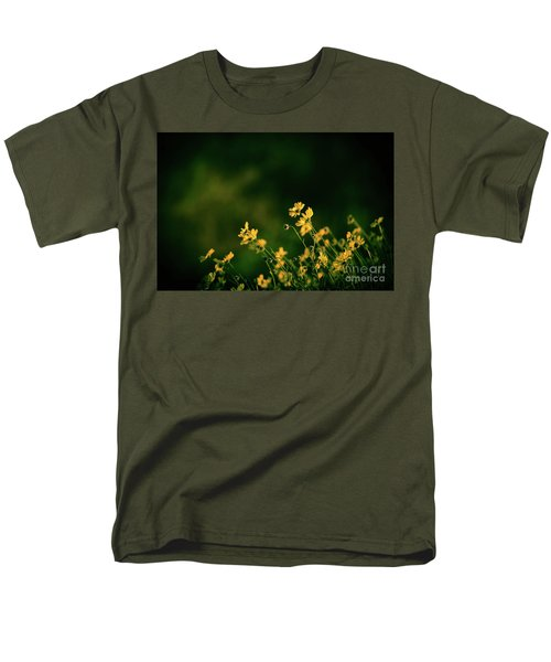 Evening Wild Flowers Men's T-Shirt  (Regular Fit) by Kelly Wade