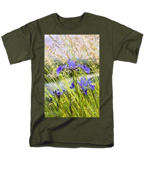 Wild Irises Men's T-Shirt  (Regular Fit) by Marty Saccone