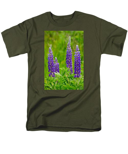 Wild Lupine Men's T-Shirt  (Regular Fit) by Karon Melillo DeVega