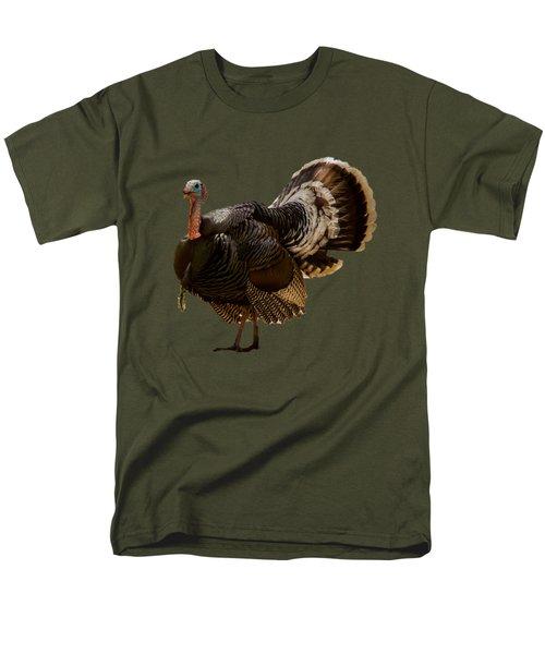 Wild Turkey Confrontation Men's T-Shirt  (Regular Fit) by Jean Noren