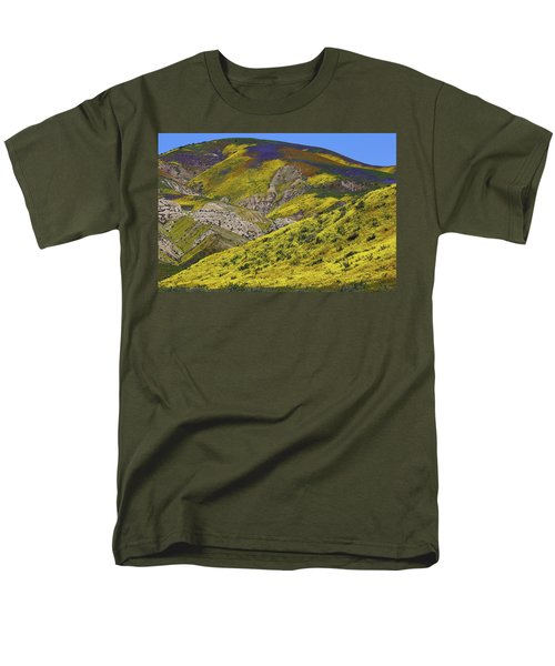 Wildflowers Galore At Carrizo Plain National Monument In California Men's T-Shirt  (Regular Fit) by Jetson Nguyen