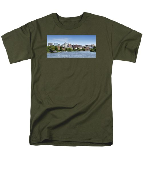 Wilmington Delaware Skyline Men's T-Shirt  (Regular Fit) by Brendan Reals