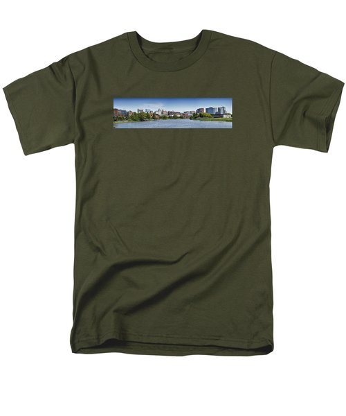 Wilmington Skyline Panorama - Delaware Men's T-Shirt  (Regular Fit) by Brendan Reals