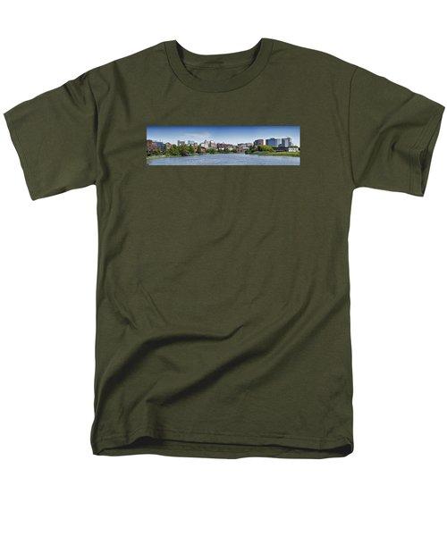 Wilmington Skyline Panorama - Delaware Men's T-Shirt  (Regular Fit)