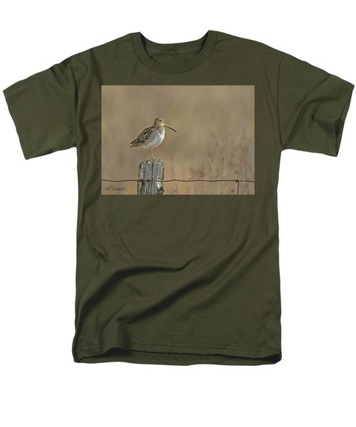 Wilson's Snipe On A Post Men's T-Shirt  (Regular Fit) by CR Courson