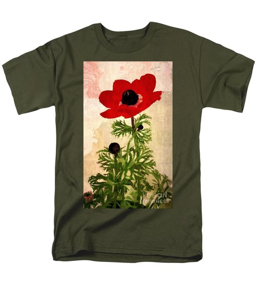 Men's T-Shirt  (Regular Fit) featuring the digital art Wind Flower by Alexis Rotella