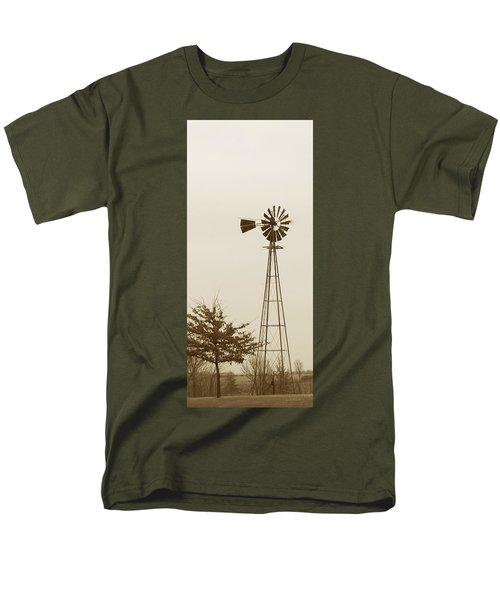 Men's T-Shirt  (Regular Fit) featuring the photograph Windmill #1 by Susan Crossman Buscho