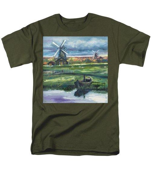 Windmills Men's T-Shirt  (Regular Fit) by Rick Nederlof