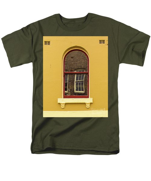 Men's T-Shirt  (Regular Fit) featuring the photograph Window And Window 2 by Perry Webster