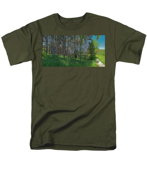 Wingate Prairie Veteran Acres Park Pines Crystal Lake Il Men's T-Shirt  (Regular Fit) by Tom Jelen