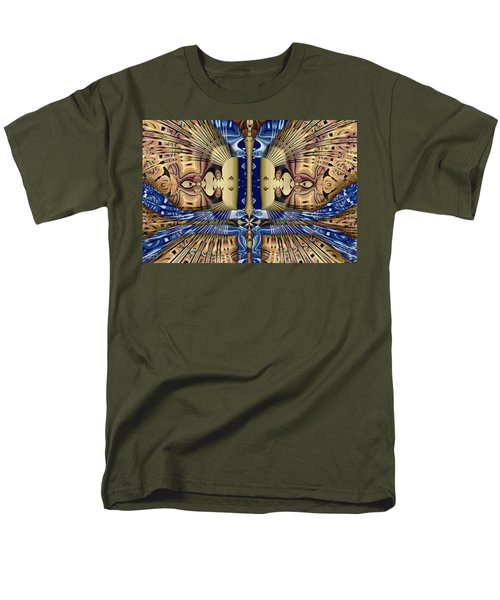 Winged Anubis Men's T-Shirt  (Regular Fit) by Jim Pavelle