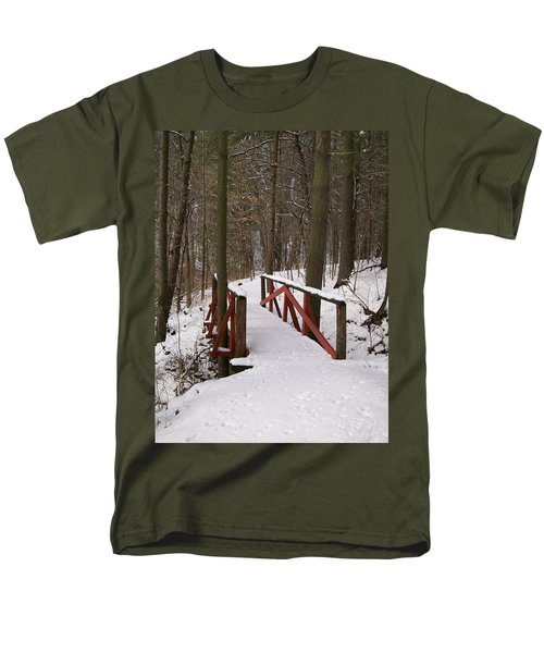 Men's T-Shirt  (Regular Fit) featuring the photograph Winter Crossing by Sara  Raber