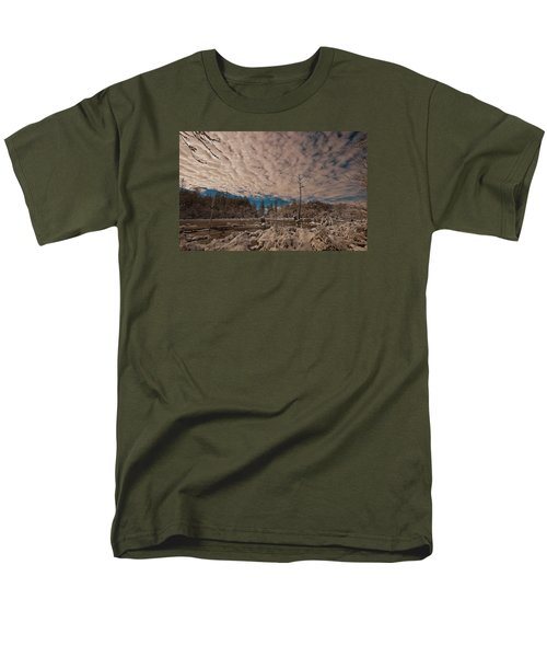 Men's T-Shirt  (Regular Fit) featuring the photograph Winter In The Wetlands by John Harding