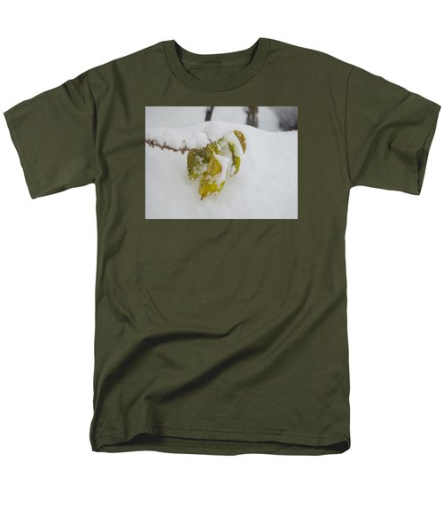 Men's T-Shirt  (Regular Fit) featuring the photograph Winter Leaves by Deborah Smolinske