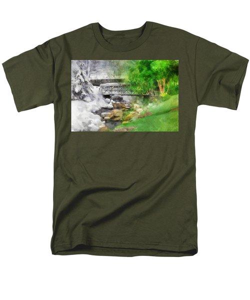 Men's T-Shirt  (Regular Fit) featuring the digital art Winter Melt To Spring by Francesa Miller