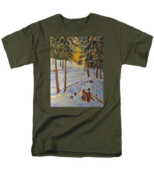 Winter On The Lane Men's T-Shirt  (Regular Fit) by David Gilmore
