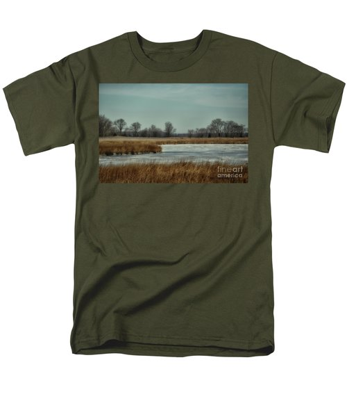 Men's T-Shirt  (Regular Fit) featuring the photograph Winter On The Water by Tamera James