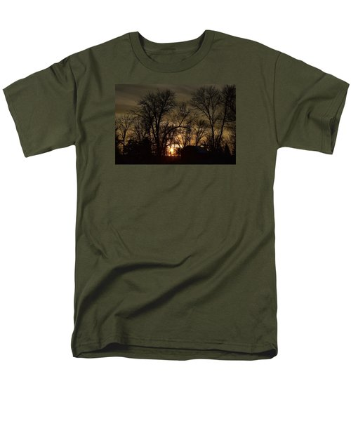 Winter Sunset  Men's T-Shirt  (Regular Fit) by Dacia Doroff
