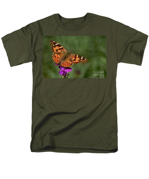 Men's T-Shirt  (Regular Fit) featuring the photograph Winter Visitor by Debby Pueschel