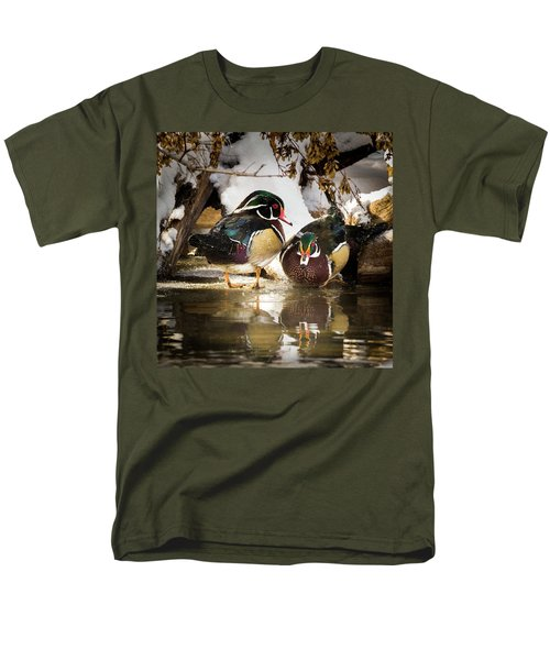 Winter Visitors - Wood Ducks Men's T-Shirt  (Regular Fit)
