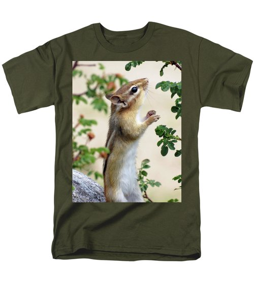 Within Reach - Chipmunk Men's T-Shirt  (Regular Fit) by MTBobbins Photography