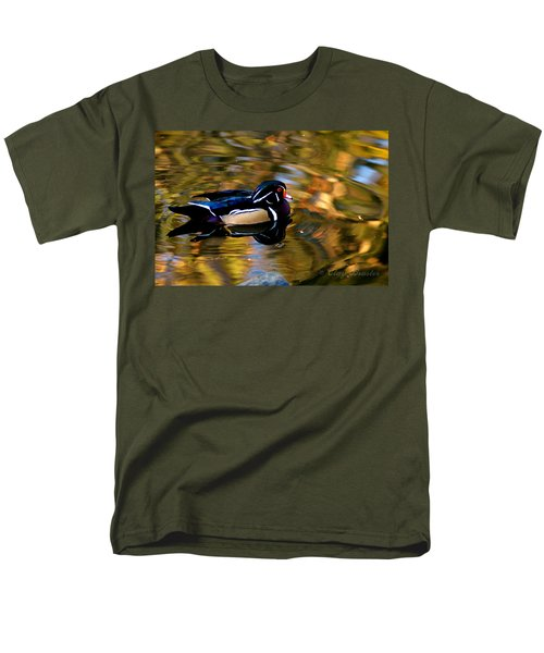 Wood Duck Men's T-Shirt  (Regular Fit) by Clayton Bruster