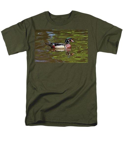 Men's T-Shirt  (Regular Fit) featuring the photograph Wood Duck by Sandy Keeton