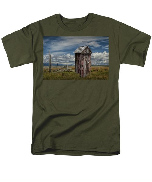 Wood Outhouse Out West Men's T-Shirt  (Regular Fit) by Randall Nyhof