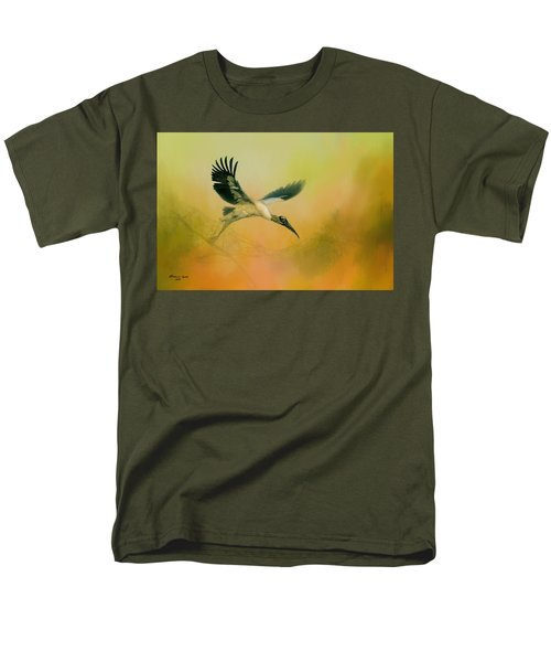 Men's T-Shirt  (Regular Fit) featuring the photograph Wood Stork Encounter by Marvin Spates