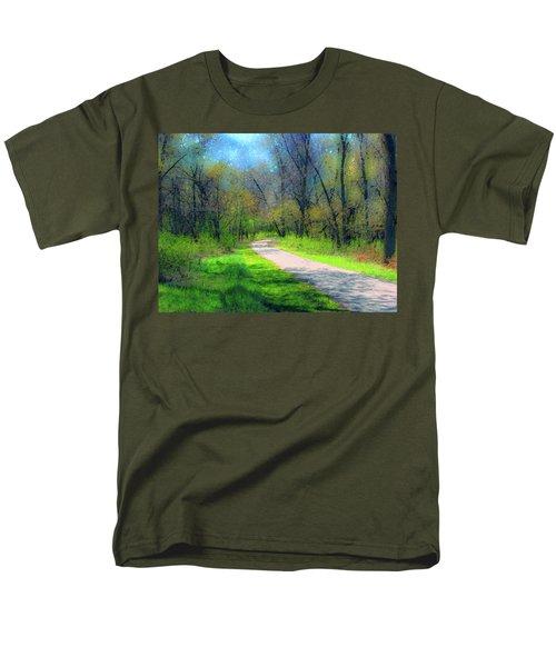 Woodland Trail Men's T-Shirt  (Regular Fit) by Cedric Hampton